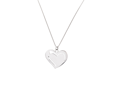 Collar con dije corazon